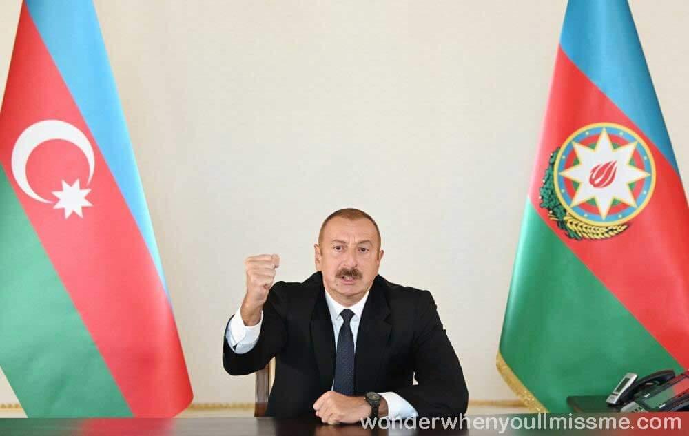 Ilham Aliyev ประธานาธิบดีอาเซอร์ไบจาน กล่าวเมื่อวันอาทิตย์ที่ผ่านมาว่า กองกำลังของประเทศของเขาได้เตรียมที่จะเข้ายืดเมืองชูชาซึ่งเป็นเมือง